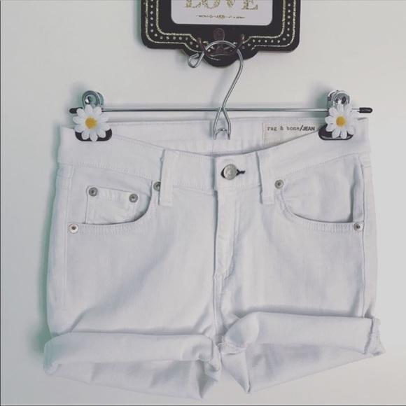 rag & bone Pants - rag & bone White Denim Shorts Size 25